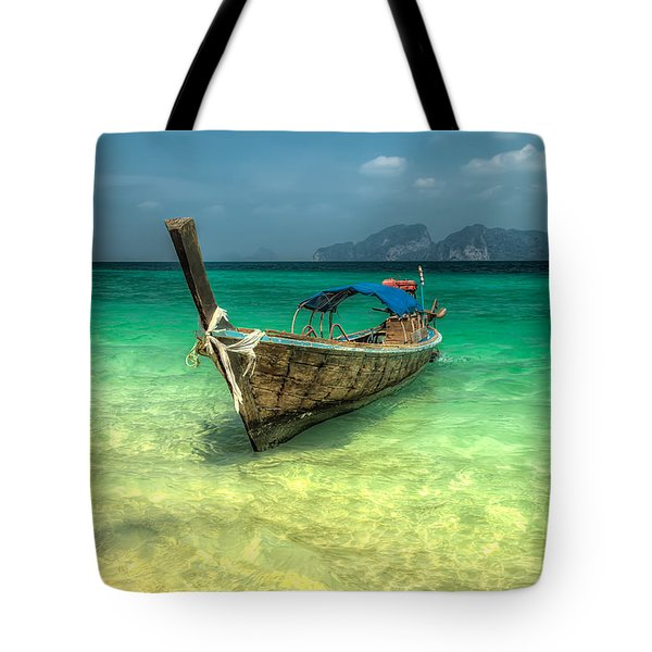 Thai Longboat Tote Bag by Adrian Evans