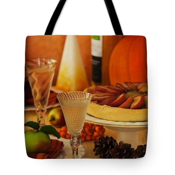 Thanksgiving Table Tote Bag by Amanda And Christopher Elwell