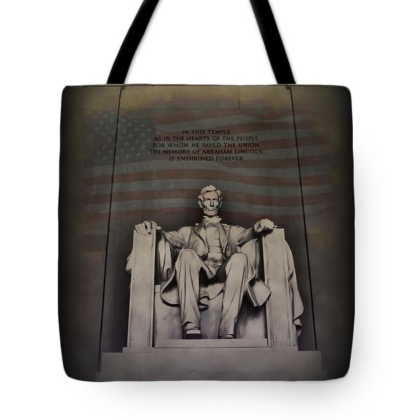 The Abraham Lincoln Memorial Tote Bag by Bill Cannon