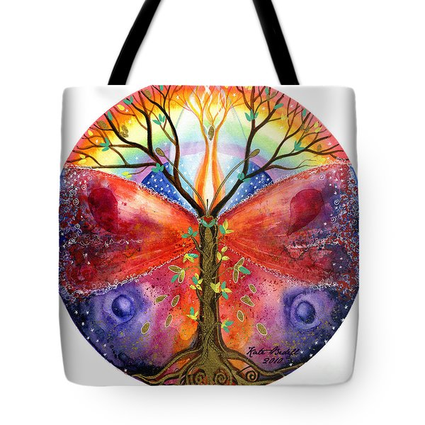 The Ace of Wands Mandala Tote Bag by Kate Bedell