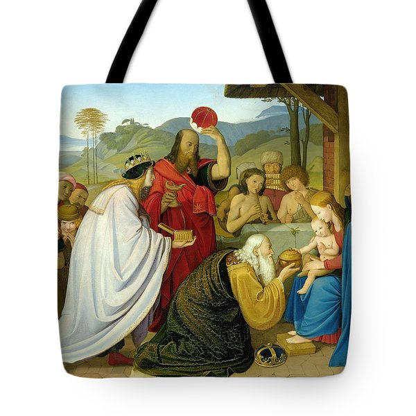 The Adoration Of The Kings Tote Bag by Bridgeman