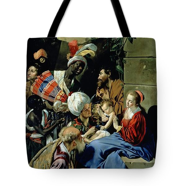 The Adoration Of The Kings Tote Bag by Fray Juan Batista Maino