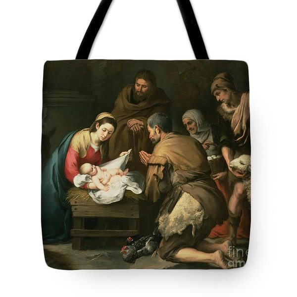 The Adoration Of The Shepherds Tote Bag by Bartolome Esteban Murillo