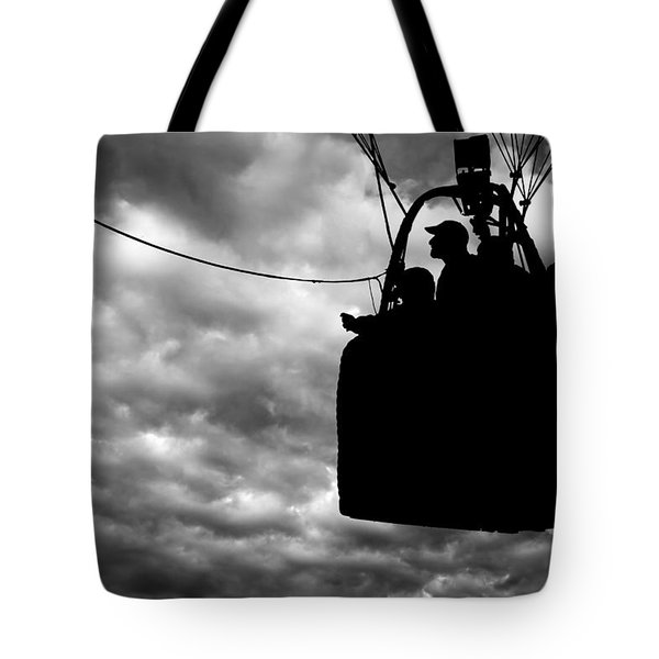 The Adventure Begins  Hot Air Balloon Tote Bag by Bob Orsillo