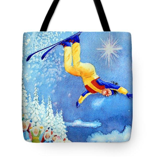 The Aerial Skier 18 Tote Bag by Hanne Lore Koehler