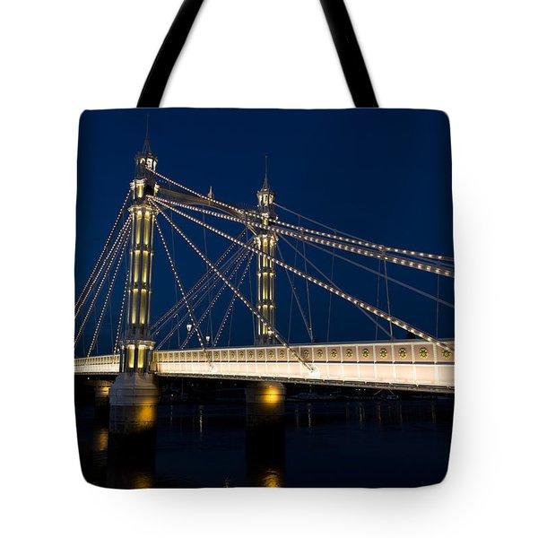 The Albert Bridge London Tote Bag by David Pyatt