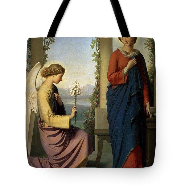 The Angelic Salutation Tote Bag by Eugene Emmanuel Amaury-Duval