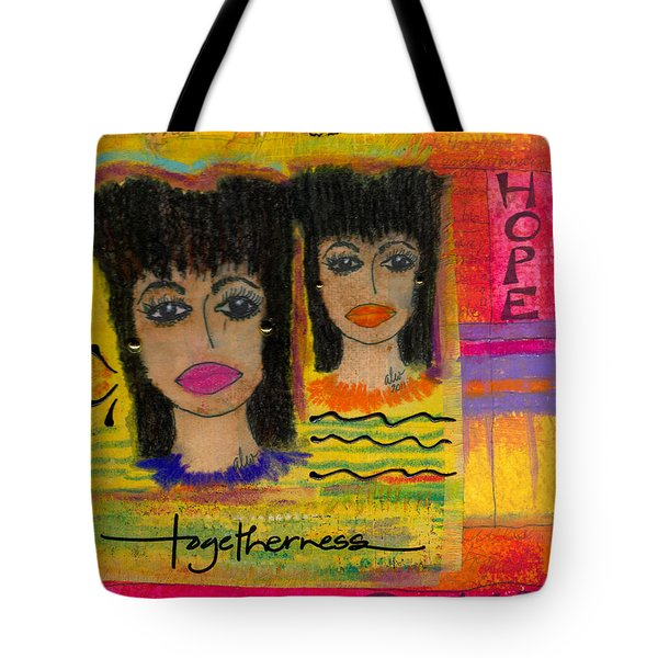 The Angels Of Hope And Prayer Tote Bag by Angela L Walker