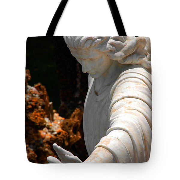 The Angels Warning Tote Bag by Susanne Van Hulst
