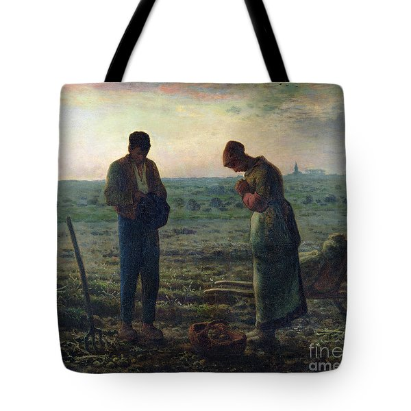 The Angelus Tote Bag by Jean-Francois Millet