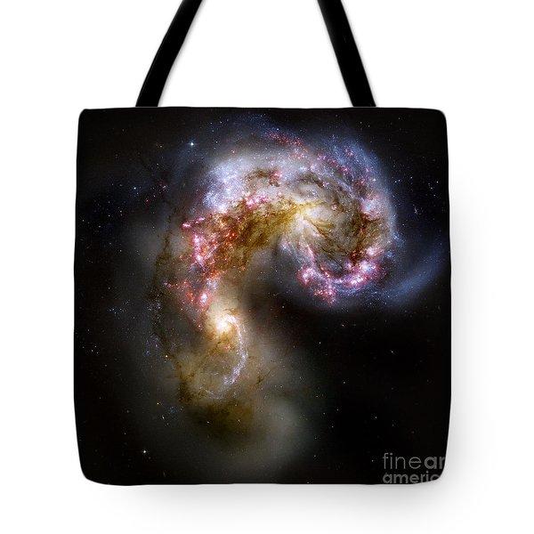The Antennae Galaxies - Ngc 4038-4039 Tote Bag by Nicholas Burningham