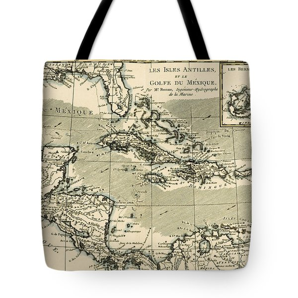 The Antilles And The Gulf Of Mexico Tote Bag by Guillaume Raynal
