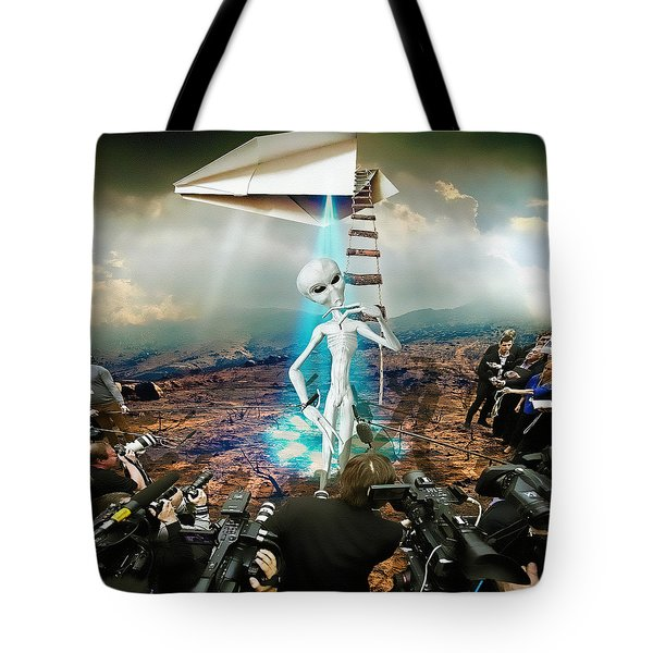 The Arrival Tote Bag by Marian Voicu