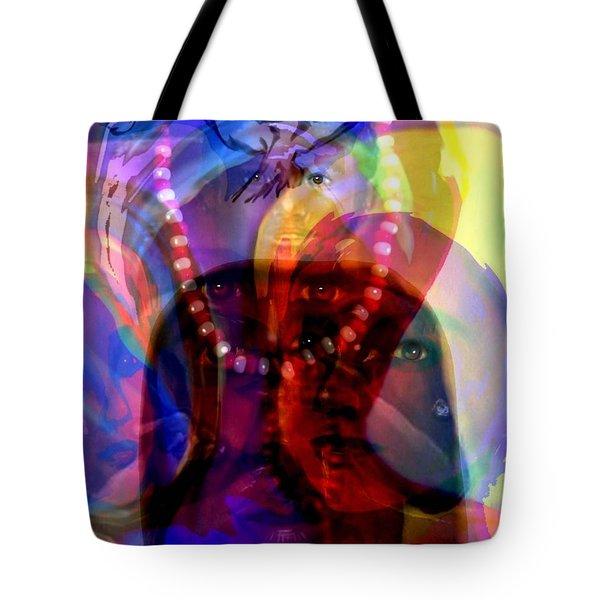 The Arrival Of Orishas Tote Bag by Carmen Cordova