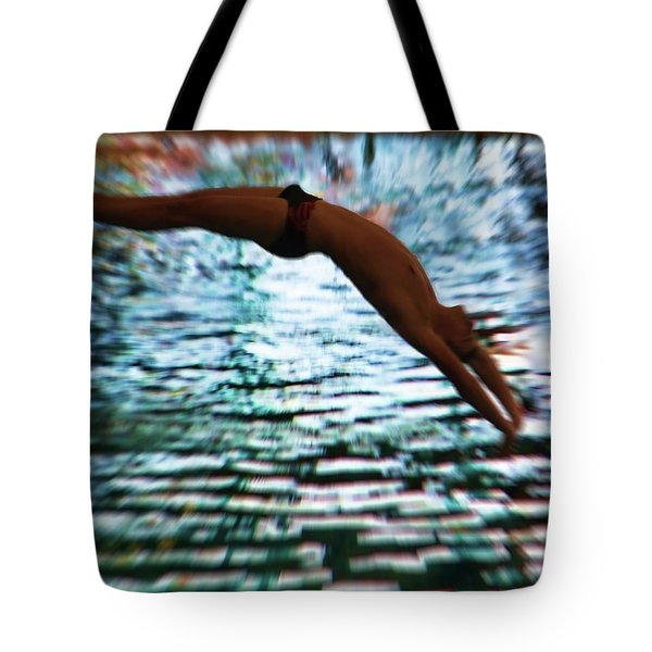 The Art Of Diving 5 Tote Bag by Jeff Breiman