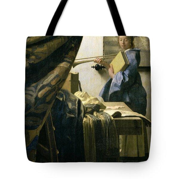 The Artists Studio Tote Bag by Jan Vermeer
