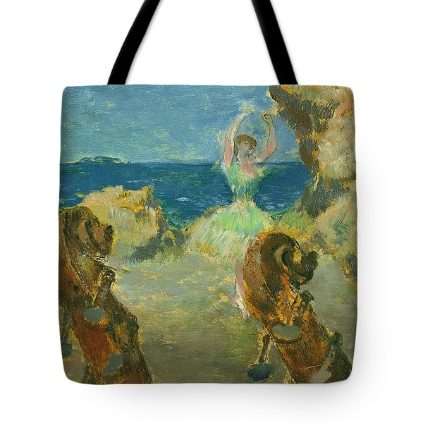 The Ballet Dancer Tote Bag by Edgar Degas