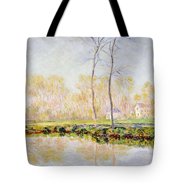 The Banks Of The River Epte At Giverny Tote Bag by Claude Monet