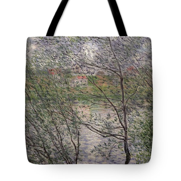 The Banks Of The Seine Tote Bag by Claude Monet