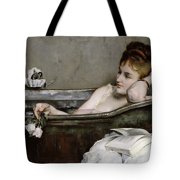 The Bath Tote Bag by Alfred George Stevens