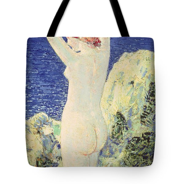 The Bather Tote Bag by Childe Hassam