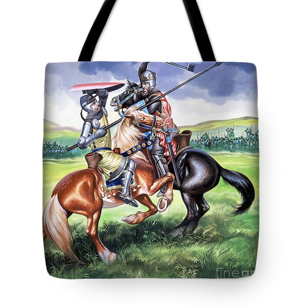 The Battle Of Bannockburn Tote Bag by Ron Embleton
