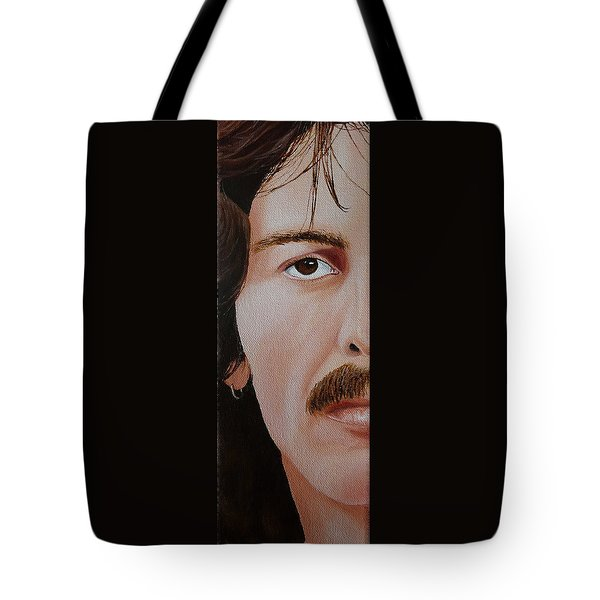 The Beatles George Harrison Tote Bag by Vic Ritchey