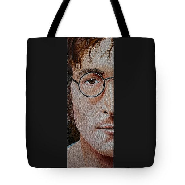 The Beatles John Lennon Tote Bag by Vic Ritchey