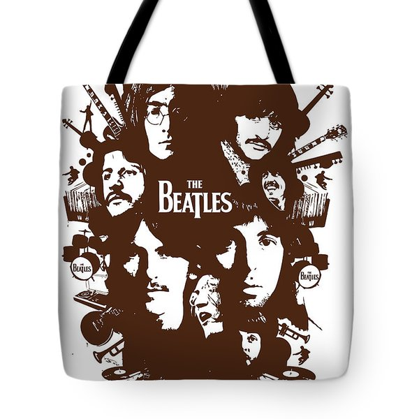 The Beatles No.15 Tote Bag by Caio Caldas