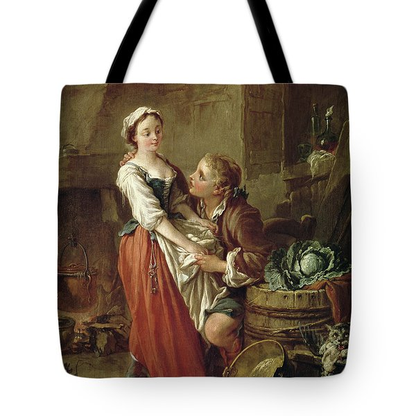 The Beautiful Kitchen Maid Tote Bag by Francois Boucher