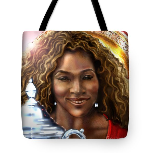 The Beauty Victory That Is Serena Tote Bag by Reggie Duffie