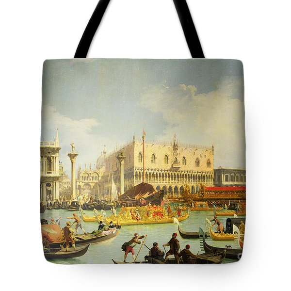 The Betrothal Of The Venetian Doge To The Adriatic Sea Tote Bag by Canaletto