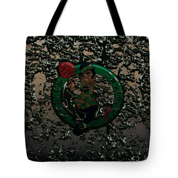 The Boston Celtics 1c Tote Bag by Brian Reaves