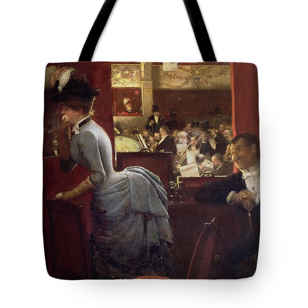 The Box By The Stalls Tote Bag by Jean Beraud
