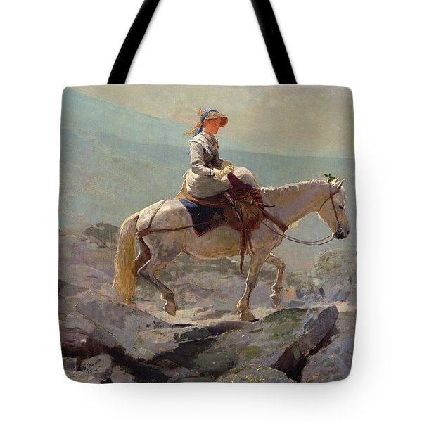 The Bridal Path Tote Bag by Winslow Homer