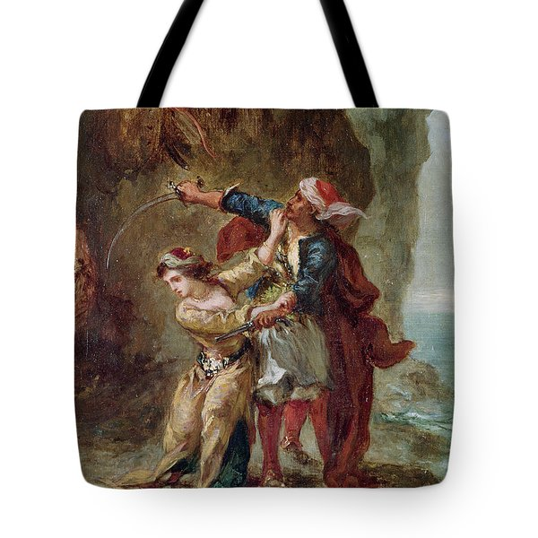 The Bride Of Abydos Tote Bag by Ferdinand Victor Eugene Delacroix