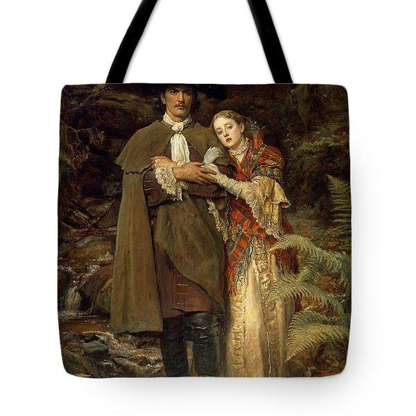 The Bride Of Lammermoor Tote Bag by Sir John Everett Millais
