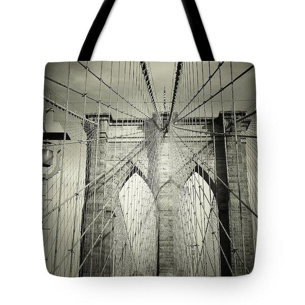 The Brooklyn Bridge Tote Bag by Vivienne Gucwa