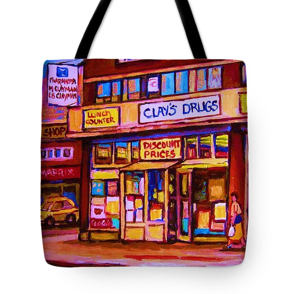 The Brown Derby Tote Bag by Carole Spandau