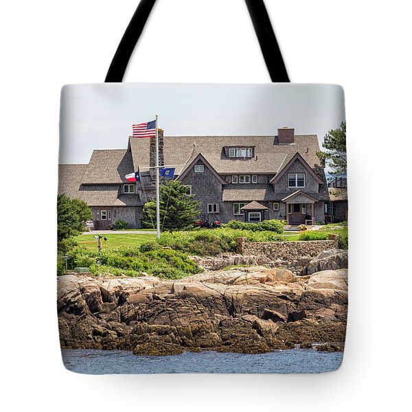 The Bush Compound Kennebunkport Maine Tote Bag by Brian MacLean