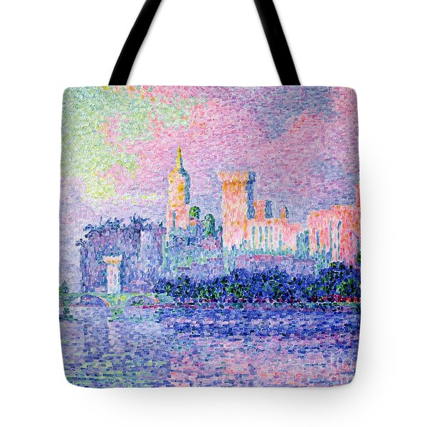 The Chateau Des Papes Tote Bag by Paul Signac