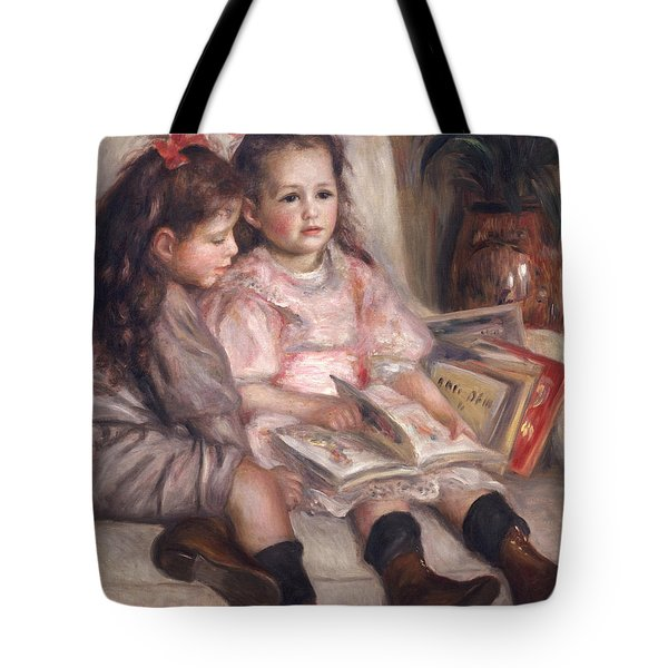 The Children Of Martial Caillebotte Tote Bag by Pierre Auguste Renoir