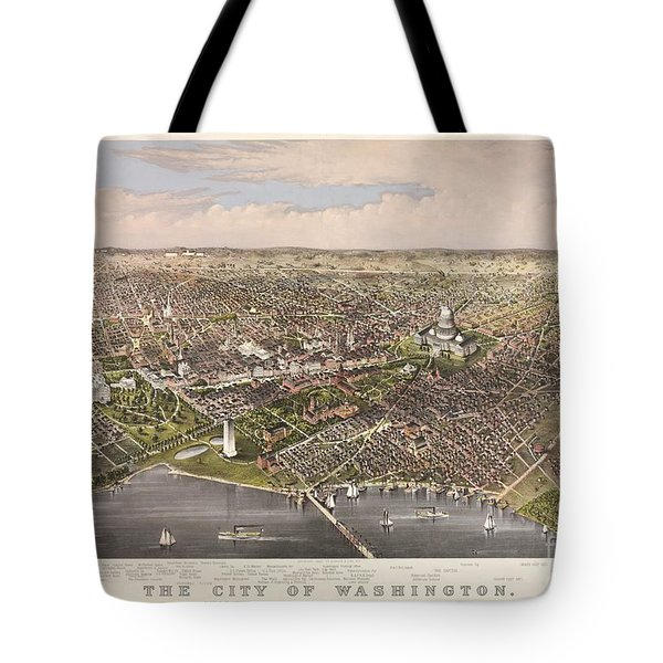 The City Of Washington Tote Bag by Charles Richard Parsons