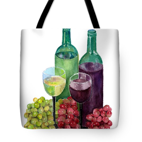 The Colors Of Wine Tote Bag by Arline Wagner