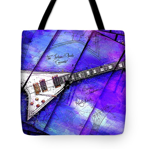 The Concorde On Blue Tote Bag by Gary Bodnar