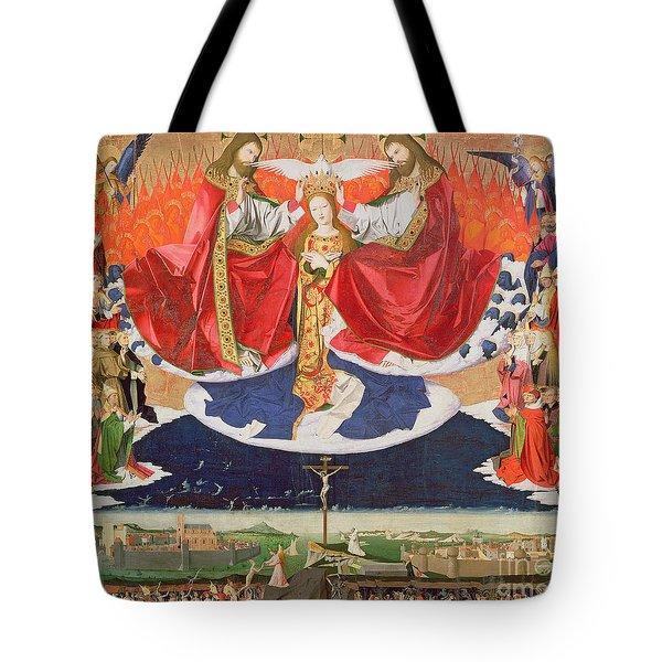 The Coronation Of The Virgin Tote Bag by Enguerrand Quarton