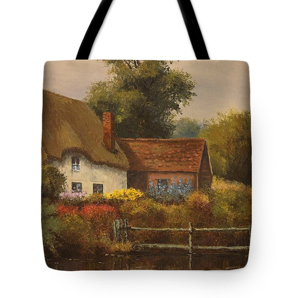 The Country Cottage Tote Bag by Sean Conlon