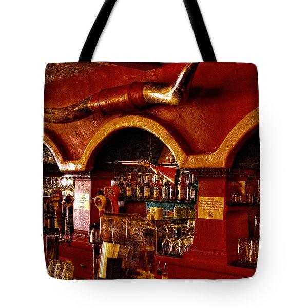 The Cowboy Club Bar In Sedona Arizona Tote Bag by David Patterson