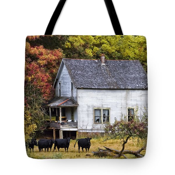 The Cows Came Home Tote Bag by Debra and Dave Vanderlaan
