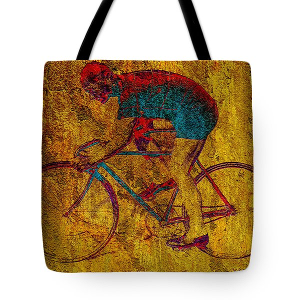 The Cyclist Tote Bag by Andrew Fare